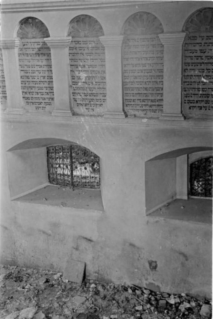 Внутрішня частина Великої передміської синагоги. Фото 1941 року