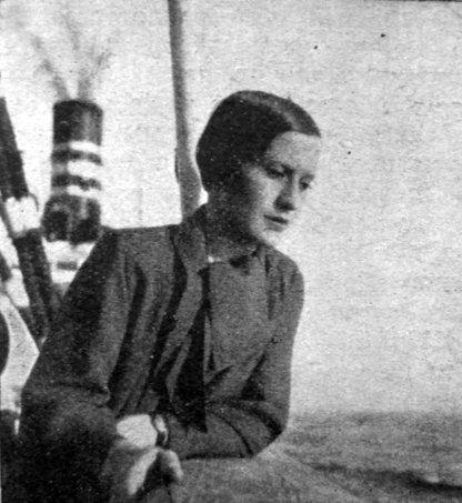 Софія Яблонська на пароплаві, 1936 р.