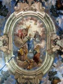 Небесна сфера в оточенні святих. Церква св. Андрія
