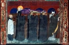 Поховання св. Одилона (фреска у Вірменському соборі)