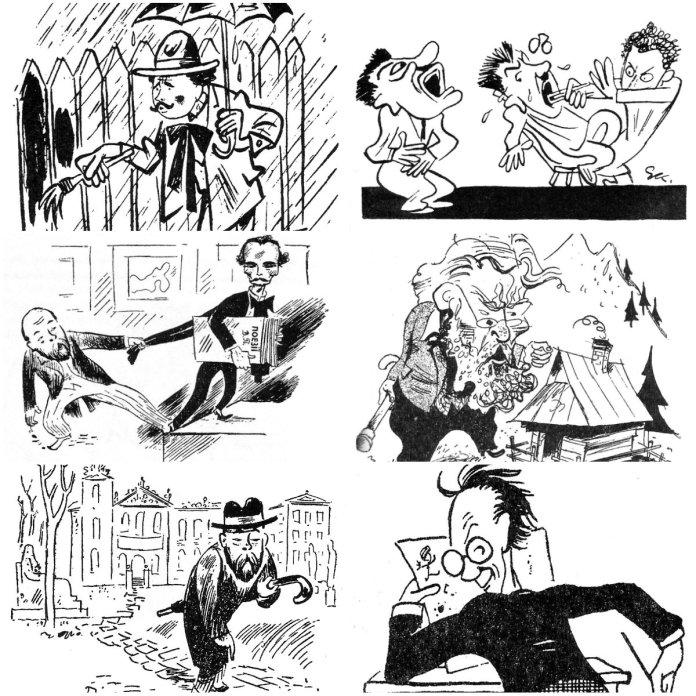 Гумор по-львівськи: 10 відомих містян у віцах та карикатурах