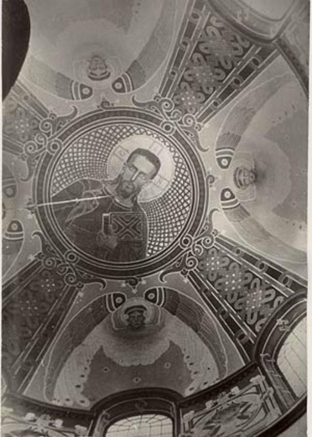 Розпис куполу церкви Успіння Богородиці в Славському.