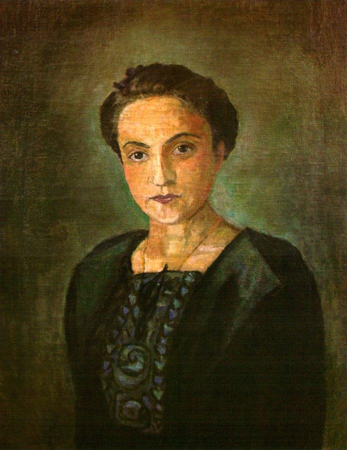 """Ольга Плешкан """"Портрет Галини Шимонович-Рудницької"""", 1944 р."""