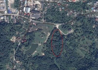 Розташування Старознесенського кладовища на Кайзервальді
