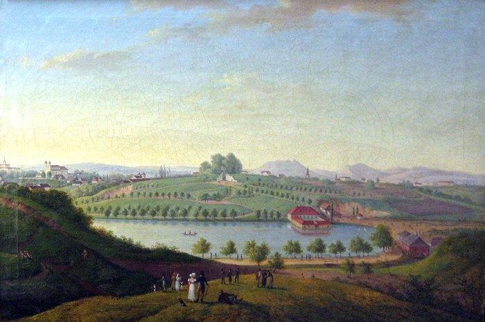 Пелчинський став в 1821 р. Автор – Антоній Ланге.