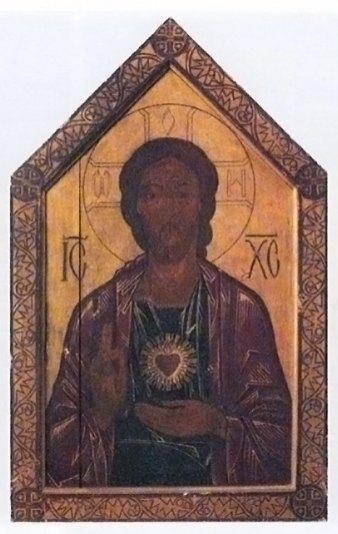 М. Бойчук. Ісус Христос. 1910-ті рр. Львів. Дошка, темпера.
