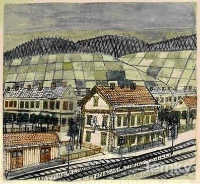Никифор Дровняк. Залізничний вокзал (зі сайту http://lemky.com)