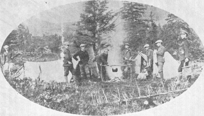 Перший пластовий табір. Чорногора, 1912 р.