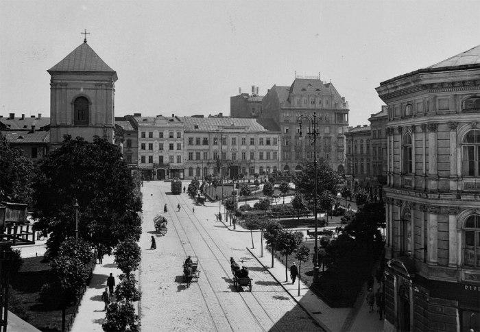 Вигляд площі Галицької в 1930 році