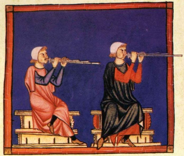Ілюстрація з кодексу Cantigas de Santa Maria. Фото з https://en.wikipedia.org
