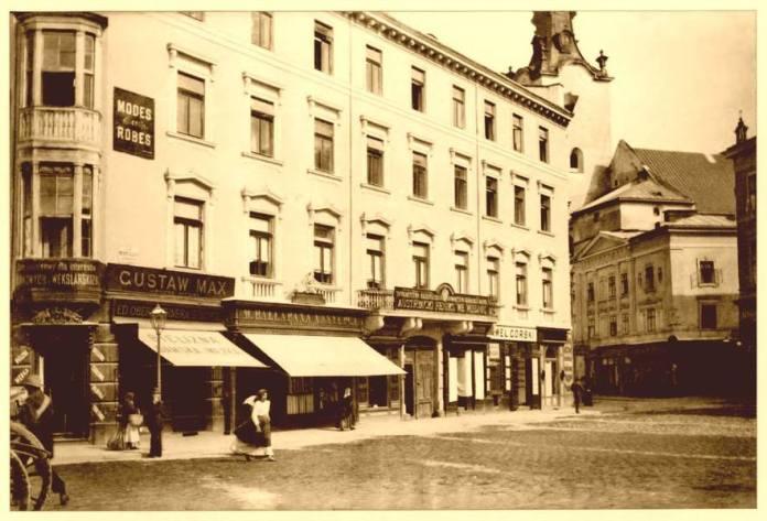 Вид на кам'яницю Понінського з площі Міцкевича. Фото кін. XIX ст.
