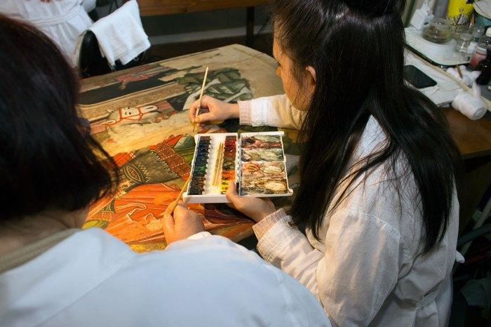 Процес рестарврації ікони в в Національному музеї у Львові імені Андрея Шептицького.
