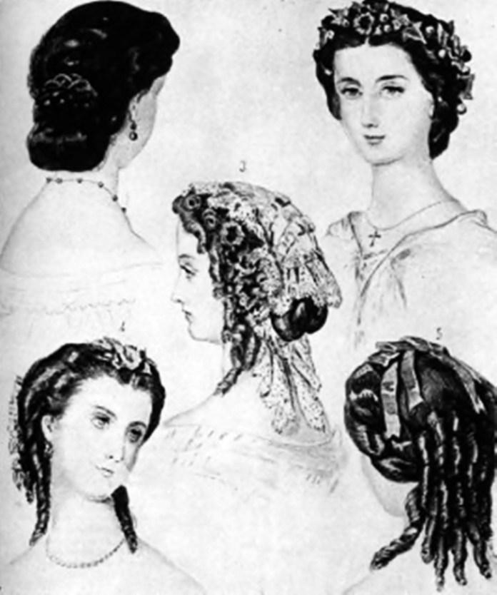 Модні зачіски середини XIX ст.