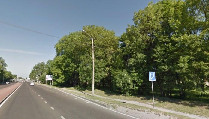 Частина вулиці Городоцької, на котрій одразу після Другої світової війни впав літак