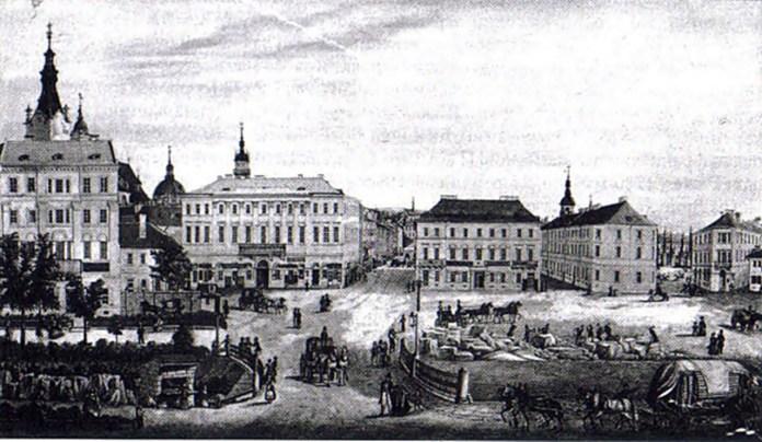 Площа Фердинанда. Мал. Т Чишковськго 1840 рік