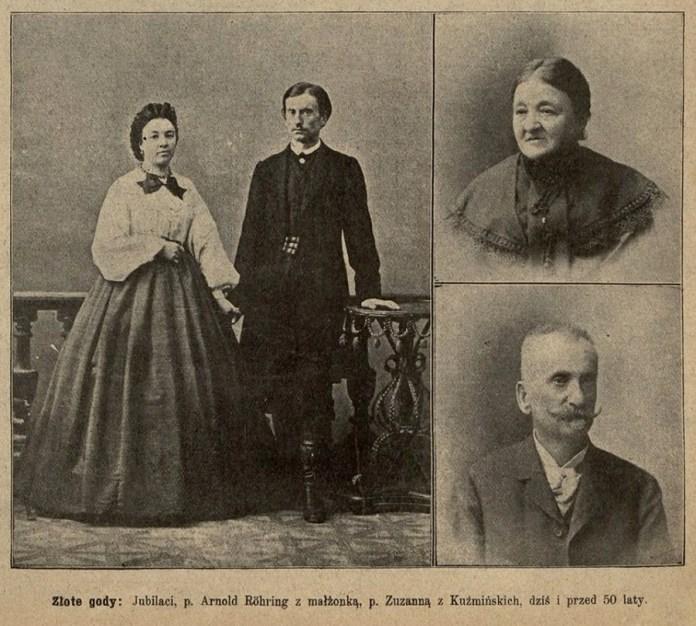 Потрет А.Рерінга з дружиною в молодості, та в похилому віці