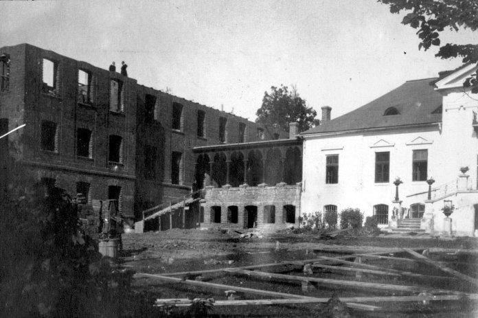 Будівництво малої семінарії (ювенату), 1921 р.