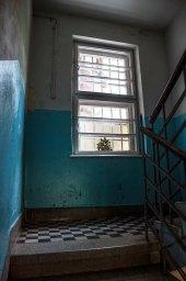 Львів, під'їзд будинку вул. Ген. Грицая, 1( тут збереглись автентичні поруччя та плитка на сходах)