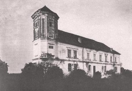 Годинникова вежа замку в Мурованому. Фото 1905 року