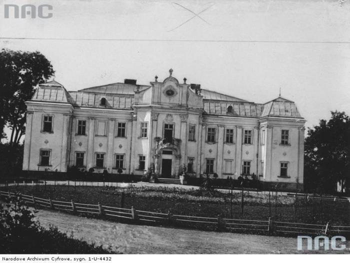 Палац архієпископів в с.Оброшине, фото до 1939 р.