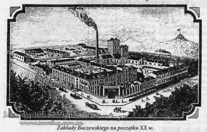 Зображення заводу Бачевських, початок ХХ ст.
