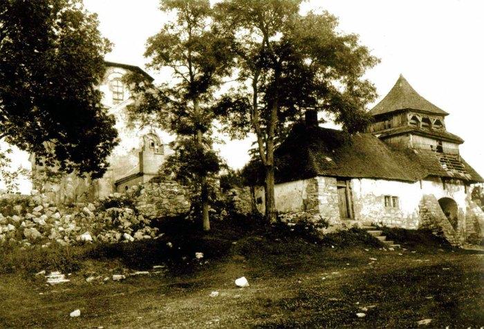 Щирець, церква Різдва Богородиці, світлина початку ХХ століття