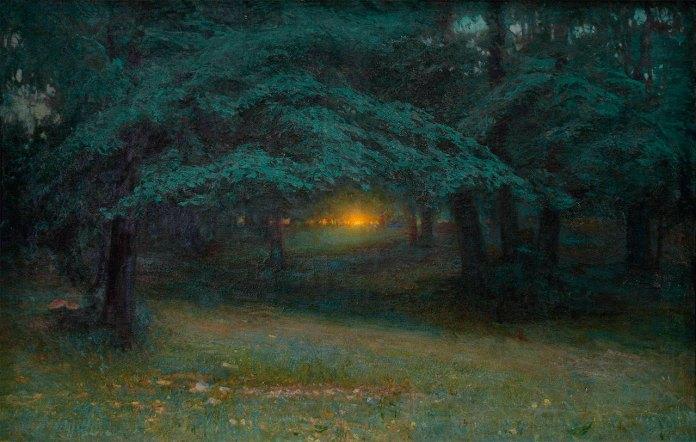 Іван Труш «Захід сонця у лісі» 1904р.