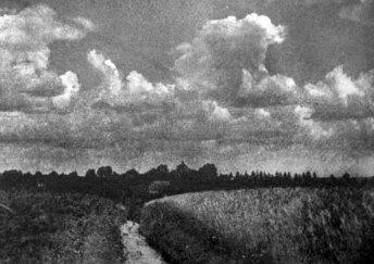 Маріян Ґавдяк. Хмари над селом, поч. 1930-х рр. (Світло й Тінь. – 1934. – Ч. 2)