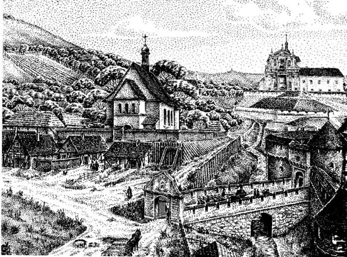 Рисунок-реконструкція давнього вигляду Львова авторства Ігоря Качора