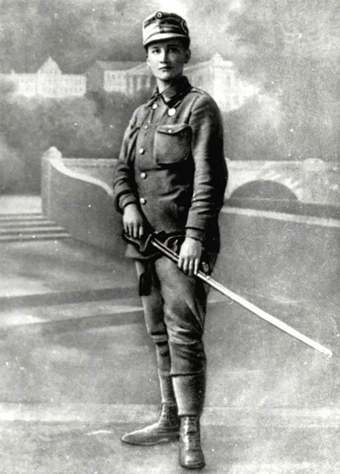 Олена Степанів на листівці. Відень, січень 1915 року