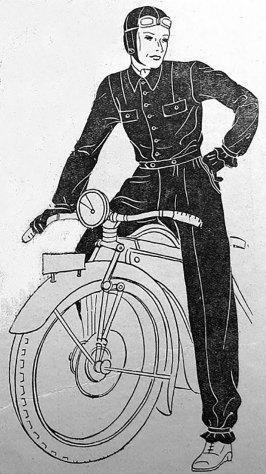 Галицька панна на моторівці у спеціальних окулярах, 1931 р. (Нова Хата. – 1931)