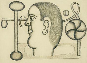 Генріх Штренг (Марк Влодарський), Голова, 1928р. Папір, олівець
