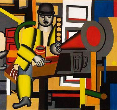 Генріх Штренг (Марк Влодарський), Людина з грамофоном, 1926р. Холст, масло