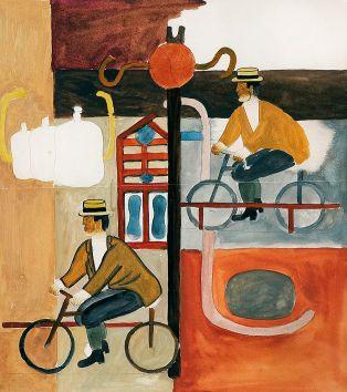 Генріх Штренг (Марк Влодарський), Велосипедисти 1925р. Папір, гуаш