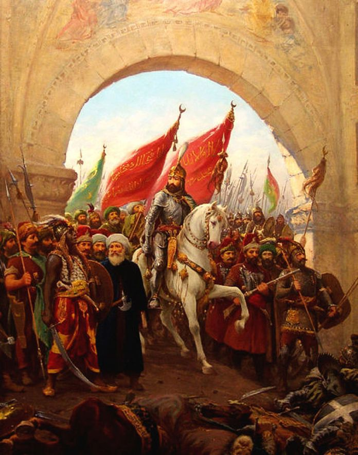 Фаусто Зонарро. Вступ Мехмеда ІІ в місто. Фото з https://uk.wikipedia.org