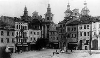 Площа Ринок у Перемишлі, орієнтовно 1940-ві рр. (зі сайту http://www.niezgoda.pl)