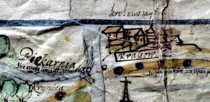 Фрагмент карти кінця 17ст.