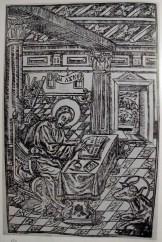 """""""Євангелист Лука"""" Ілля. Апостол. друкарня М. Сльозки. Львів, 1639 р."""
