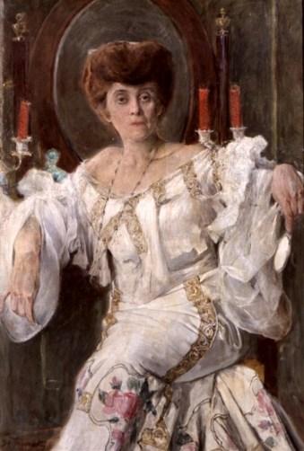 «Портрет Габріелі Запольської», 1903 рік. Автор – Станіслав Яновський