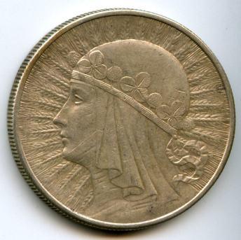 10 злотих 1932 року. Аверс