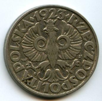 50 грошів 1923 року. Реверс