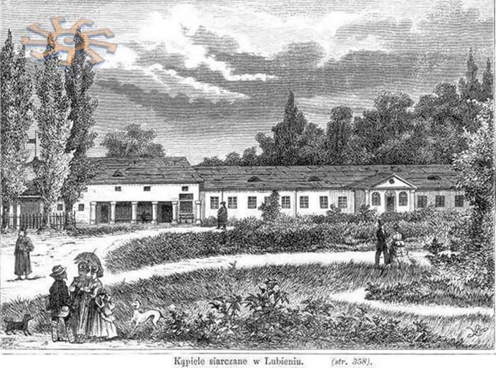 Одне з найдавніших зображень Любіня. Варшавський гравер А.Хроманський, 1871р.