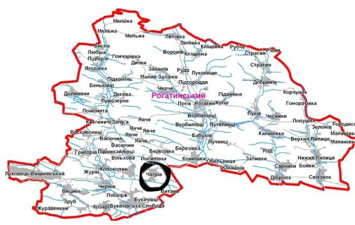 Чагрів, рідне село Адама Чагровського. Фото з ves-rogatyn.at.ua
