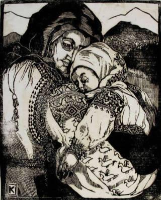 Олена Кульчицька. Мати з дитиною.