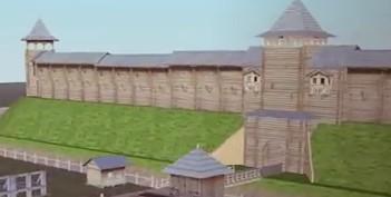 Приблизно такий вигляд мали укріплення давньоруського Звенигорода