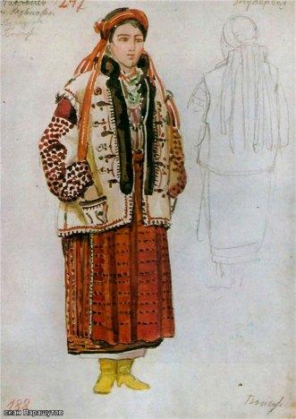 Олена Кульчицька. Жіночий одяг. Покуття. 1930р.
