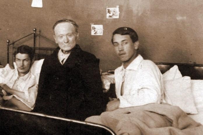 Іван Франко в Приюті УСС серед пацієнтів-вояків