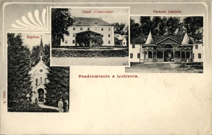 Поштівка. Вітання з Любіня, 1920 р.