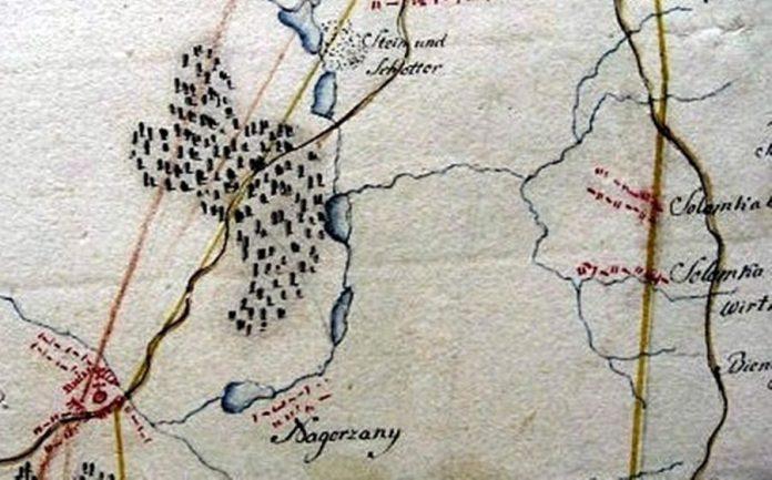 Великий і Малий солонецький потік(Острожанка) на карті А. Шнайдера