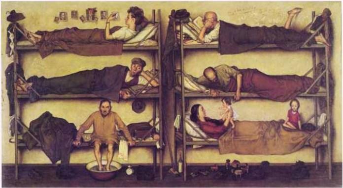 """Гніздовський Я. """"Переміщені особи"""", 1948 рік"""